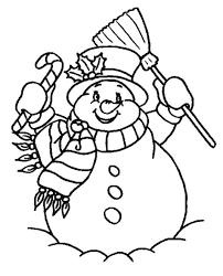 Small Picture Snowman Coloring Pages Free Winter Coloring pages of