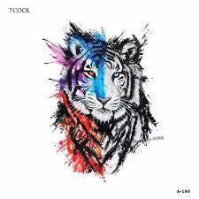 купить Hxman тигр для женщин временная татуировка стикеры
