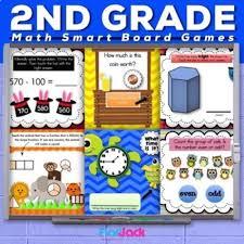 Second Grade Math Smart Board Promethean Flipchart Games Bundle Flapjack Educational Resources