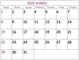 Monthly Blank Calendar 2015 Template For Calendars 2015 Theredteadetox Co