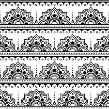 Henna Pattern Inspiration Mehndi Indian Henna Tattoo Seamless Pattern By RedKoala GraphicRiver