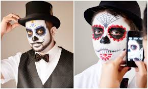 need some inspiration for me painting kelvin s sugar skull makeup look back at this tyra day of the dead makeup tutorial for guys