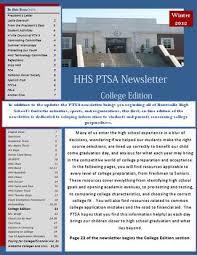 Hhs Ptsa Winter Newsletter 2012 By Cedar Hills Media Marketing