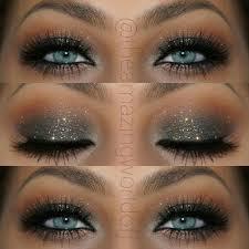 eye makeup for blue eyes. elegant glitter smokey eye makeup that makes her blue eyes pop ~ stunning!! @ for f