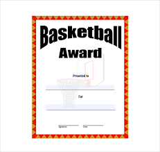 Award Certificate Template Free 8 Basketball Certificate Templates Download Free Documents In Pdf