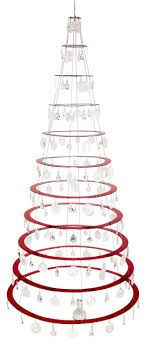 The Modern Christmas Tree, Ruby Red, 7.5', Illusion Discs contemporary- christmas