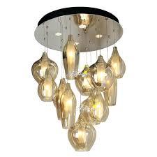blown glass lighting chandelier modern 2 layers of cognac blown glass chandelier hand blown glass lighting