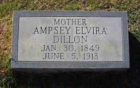 Ampsey Elvira Johnson Dillon (1849-1913) - Find A Grave Memorial