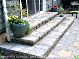 installing brick pavers over concrete steps landings can you lay brick pavers over concrete patio