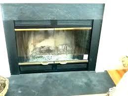 gas fireplace glass doors how