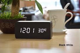office wooden table. Modren Office Sounds Control Novel Alarm Clocks 4 Color LED Display Office Wooden Desk  Clock Sylish Table And Wooden Table