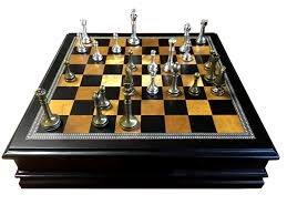 Wooden Board Game Sets Metal Chess Set With Deluxe Wood Board and Storage 82