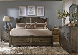 Modern Queen Bedroom Set Liberty Furniture Modern Country Casual Rustic Queen Bed With
