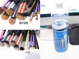 easy way to clean makeup brushes using cinema secrets professional brush cleaner