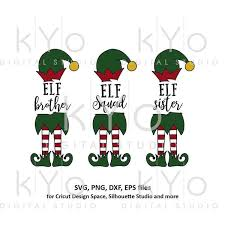 Compatible with cameo silhouette studio, cricut and other cutting machines for any crafting projects. Christmas Elf Squad Sister Brother Svg Cut Files Kyodigitalstudio Com