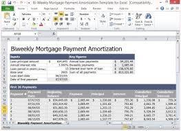 Mortgage Amortization Calculator Bi Weekly Excel Example 801