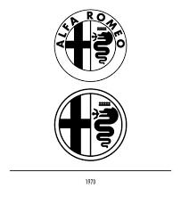 alfa romeo logo black and white. marchio alfa romeo del 1970 logo black and white