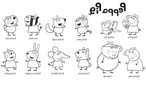 Peppa Pig Coloring Pages Printable Free Pig Coloring Pages Three
