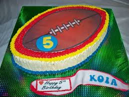Rugby Ball Birthday Cake Or Football Birthday Cake Trade Me