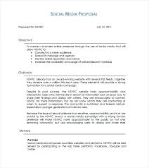 Social Media Proposal Template Marketing Proposal Example Marketing Proposal Templates Free