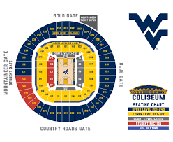 Basketball Seating Chart Wvu West Virginia Mountaineers