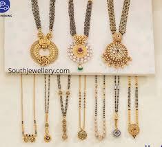 Black Beads Designs In Kalyan Jewellers Nallapusalu Necklace Designs Indian Jewellery Designs