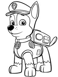 Small Picture Paw Patrol Chase coloring page Free Printable Coloring Pages