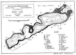 Dnr Lake Maps In Mi Of Bud Lake Houghton Lake Walleye
