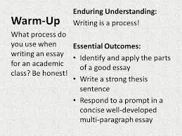 english how to write a good essay warm up essay prompt and  2 warm up