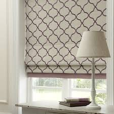 fabric roman blinds. Perfect Blinds Clarke And  Bukhara Fabric Collection Cream Purple Patterned Roman  Blind With Roman Blinds