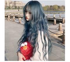<b>MANWEI</b> Multicolor Long Water Wave With Bangs <b>Wig</b> For Women ...