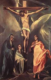 el greco christ on the cross with the two maries and st john
