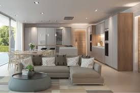 Living Room Kitchen Design Kitchen Cgi Uk Charles Roberts Studios