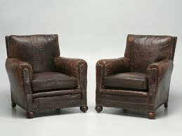 leather club chairs for sale. Unique For French Leather Club Chairs In Faux Crocodile To For Sale