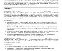 Convenience Store Manager Resume Examples Resume For Store Manager Rare Template Skills And Abilities Retail 47