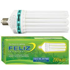 200 Watt Grow Light Feliz 200 Watt Blue 6500k Compact Fluorescent Grow Lamp