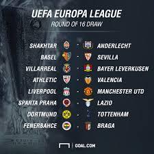 europa league draw man utd get liverpool in last 16 tie city newspaper