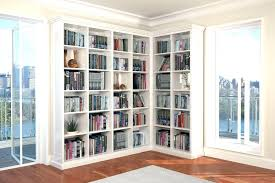 dark brown bookcase studio contemporary wood corner bookshelf with doors bookshelves glass dar