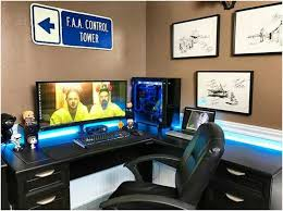 l shaped desk gaming setup.  Desk L Shaped Desk Gaming Setup  185 Best The Rig Images On Pinterest Computers  Desks And Inside A