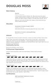 Dental Resume Classy Example Cv Dentist Uk