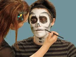 making mouth for skeleton makeup