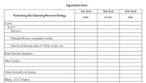 Fundraising Plan Template Nonprofit Fundraising Plan Template Strategic Schedule