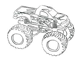 Monster Truck Coloring Pages Free Running Downcom