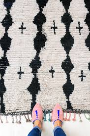 black and white moroccan rug from the pink rug co sfgirlbybay