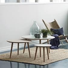 Side Table Scandinavian Design Scandinavian Design Side Table Oak Laminate Linoleum