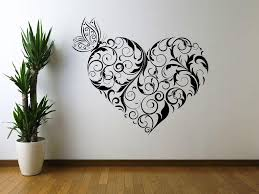 large wall stencils heart