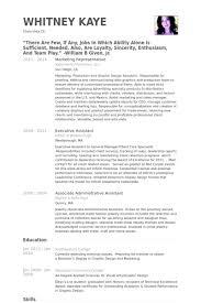Marketing Representative Resume Samples Visualcv Resume Samples