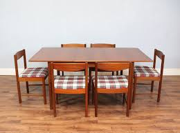 mc intosh dining table 6 chairs mid century teak retro vine