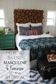 how to blend masculine and feminine in the bedroom from thewhitebuffalostylingco com