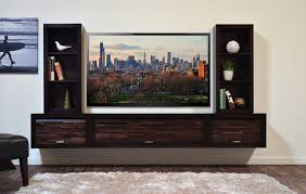 In Wall Entertainment Cabinet Floating Entertainment Center Tv Stand Eco Geo Espresso Woodwaves